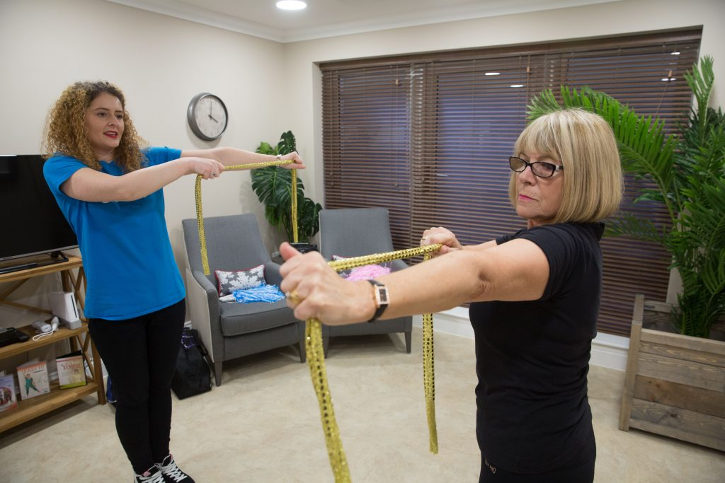 Oomph Exercise for mobility at Cuffley Manor a TLC Care home