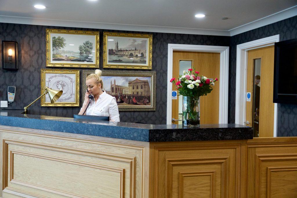 Cambridge Manor care home in Cambridge lobby _ TLC Care