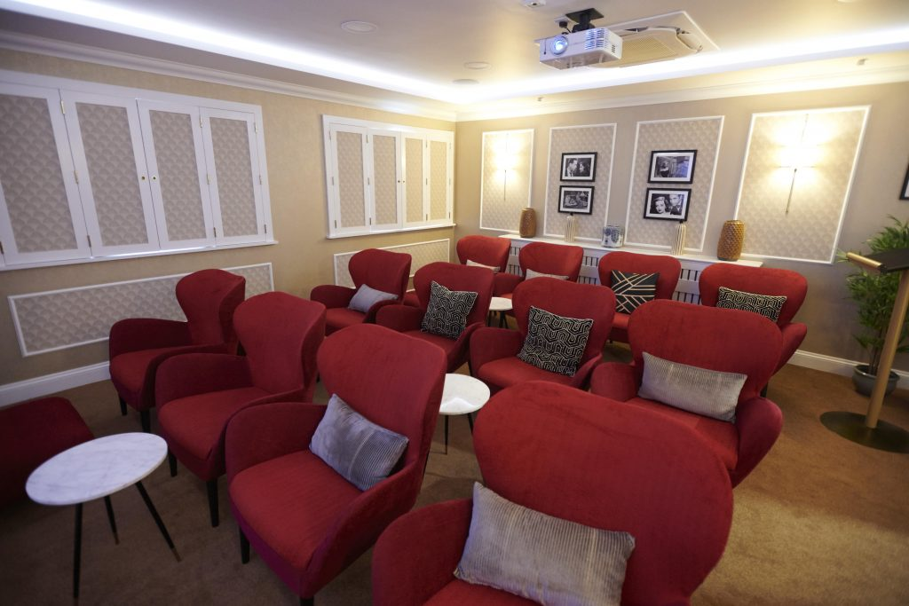Candlewood House Care home in North London cinema by TLC Care